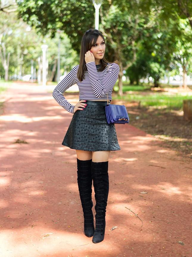 Mônica Araújo veste conjunto P&B Únicas Store para Zaus Boutique.