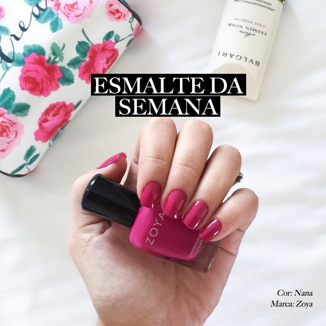 O Zoya Nana foi o tom escolhiido pela blogueira Mônica Araújo do blog Oh My Closet!