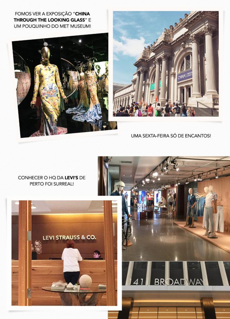 Um pouco do meu curso no FIT: visita ao MET e ao showroom da Levi's. Vem ver no Oh My Closet!