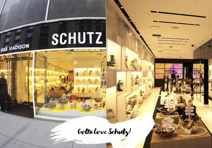 Schutz Madison em NYC, um dos pontos preferidos da influenciar Mônica Araújo.