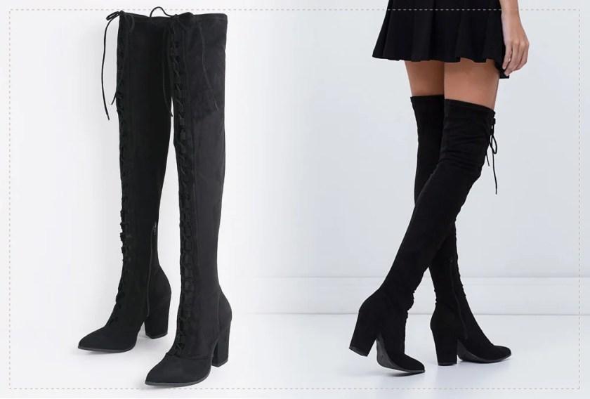 Detalhes da over the knee Via Marte no desejo do dia da top blogger Mônica Araújo. Veja no Oh My Closet!