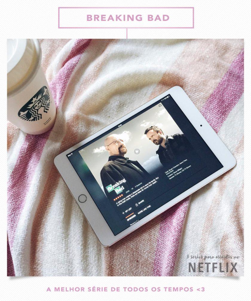 Breaking Bad é uma das 3 séries para assistir no Netflix que Mônica Araújo indicou no OMC. Confiram!