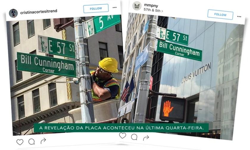 A Bill Cunningham Corner, homenagem prestara pela prefeitura de Nova York a Bill fica até a próxima quarta-feira. Mais detalhes no Oh My Closet!