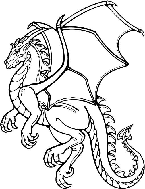 Coloriage Dragon Mechant Coloriages Dragon