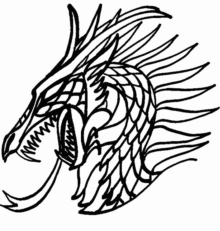 Coloriage Dragon Ying Yang