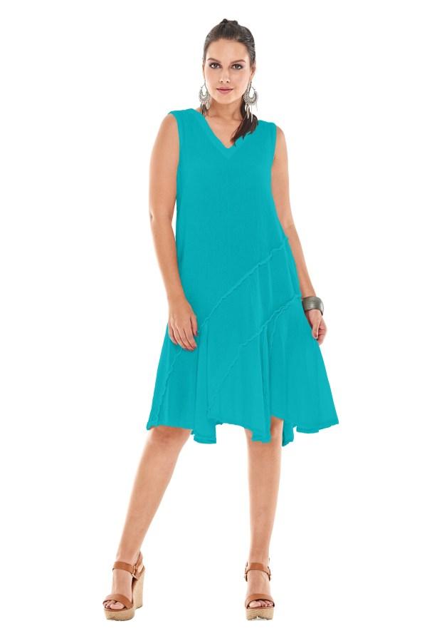 Gauze Tabasco Dress Lagenlook Casual 100 Cotton
