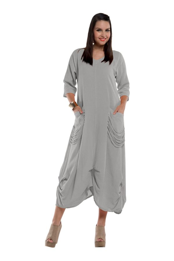 Gauze Belva Dress Lagenlook Casual 100 Cotton