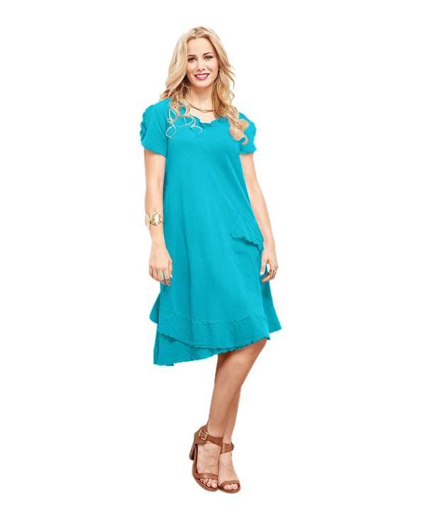 Gauze La Dress 100 Comfortable Cotton Lagenlook