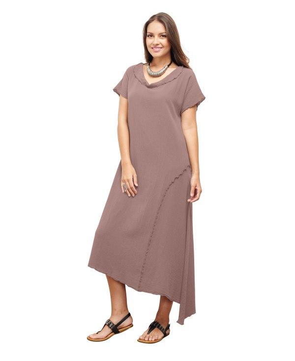 Gauze Liz Dress Lagenlook Casual 100 Cotton