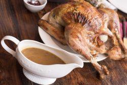 gravy and turkey
