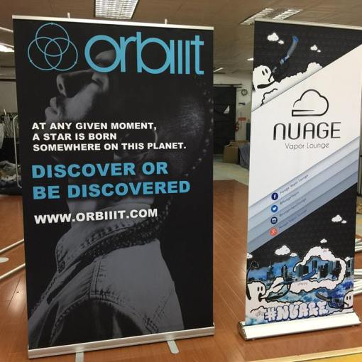 Retractable banner stands come in a variety of sizes