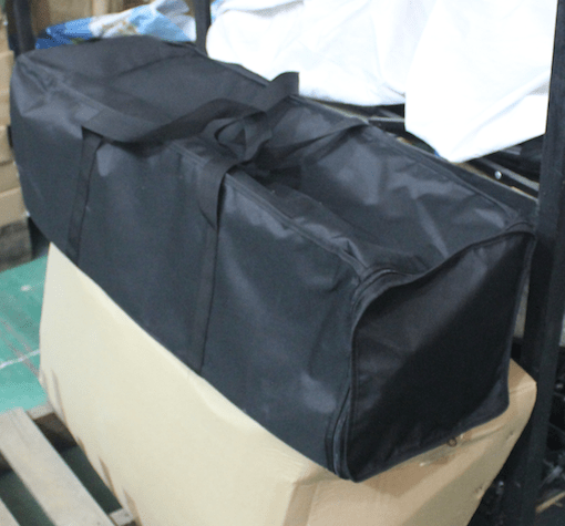 Soft padded shipping case for pop up display