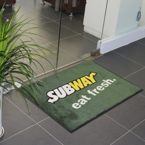 Custom printed door mats with logo