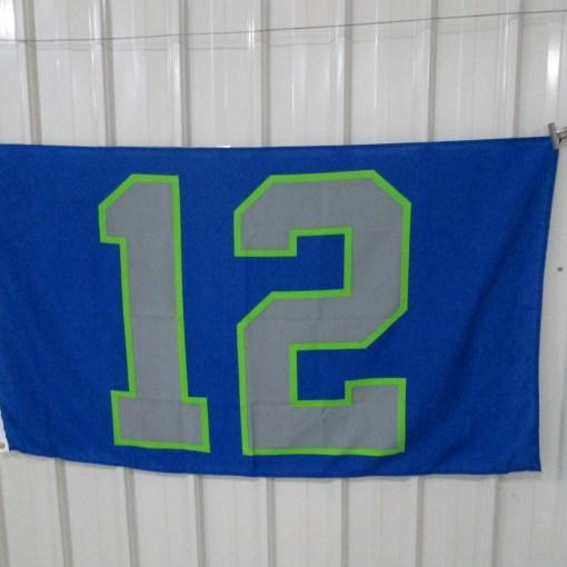 Seattle Seahawk flag printing