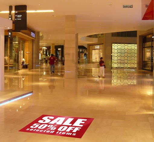 non skid Floor decal printing