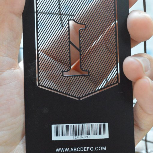 Black-Matte-Card-with-Cut-out-and-Bar-Code