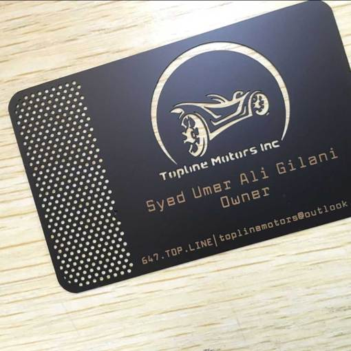 Matte-Black-Metal-Business-Cards-Toronto-Ontario