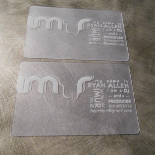 Plastic Business Card Single Sided