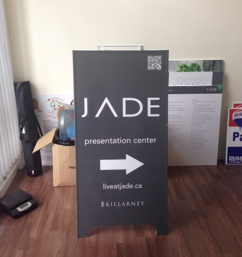 A Frame Sign with self adhesive