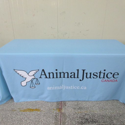Printing-logo-on-tablecloth-with-pantone-background-colour