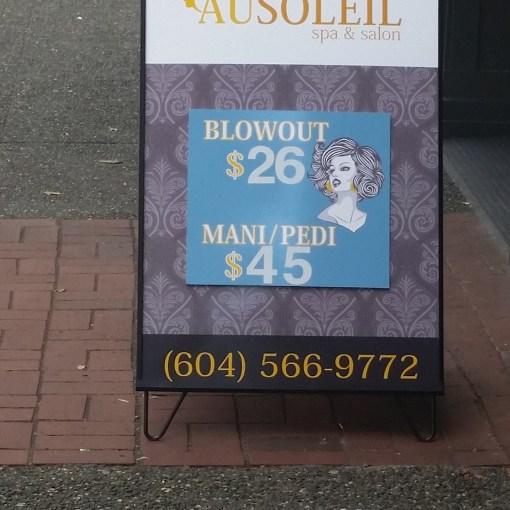 Sandwich Board Sign Vancouver