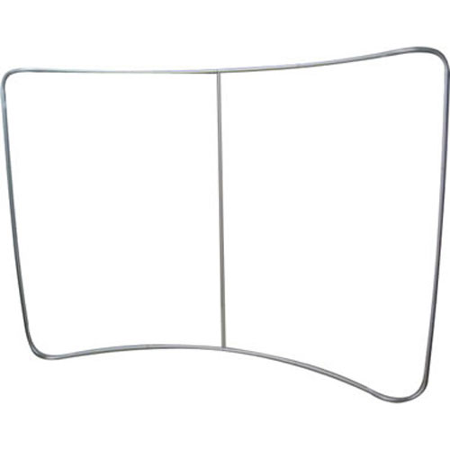 Curved tension fabric display 8 x 10