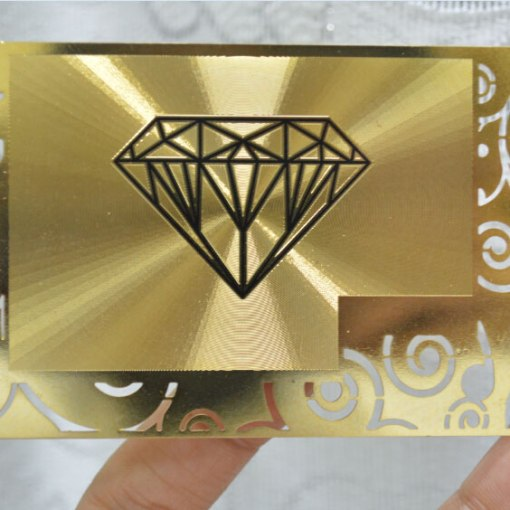 Gold-Stainless-steel-cards