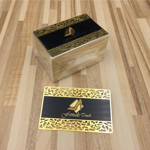 Metal-Business-Cards-Gold-Lace