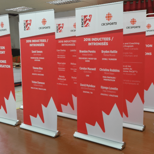 Canada Banner Stands
