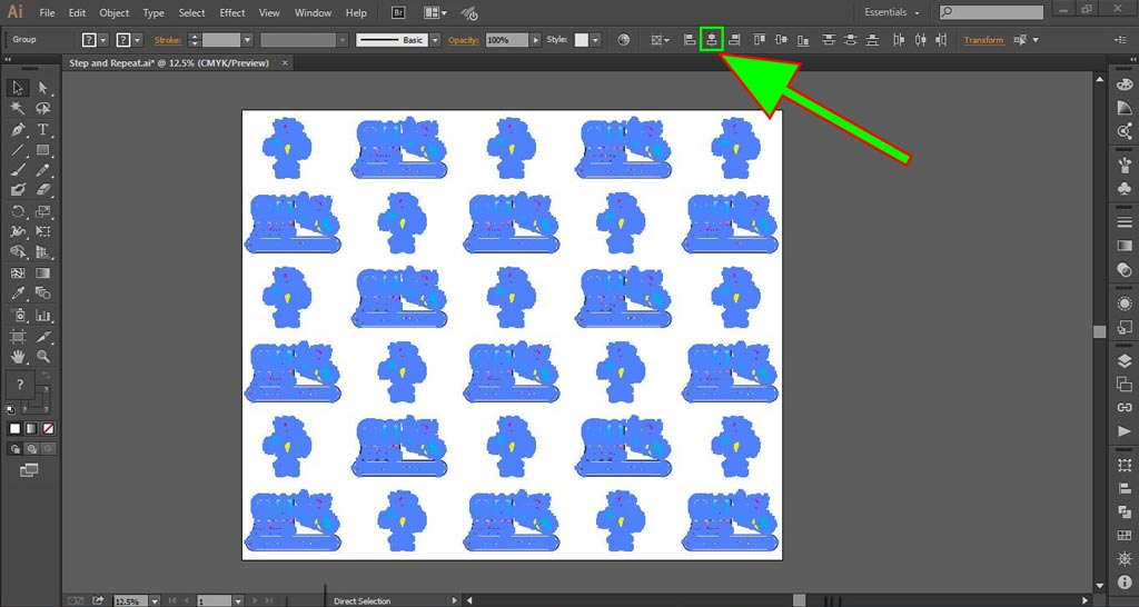 Logo Wall Instructions Illustrator Step 8-d