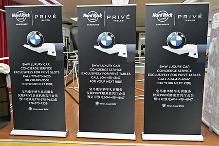 Retractable Banner Stands - Luxury Style