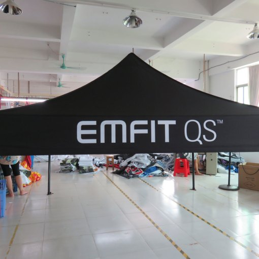 Black-pop-up-Canopy-with-Logo