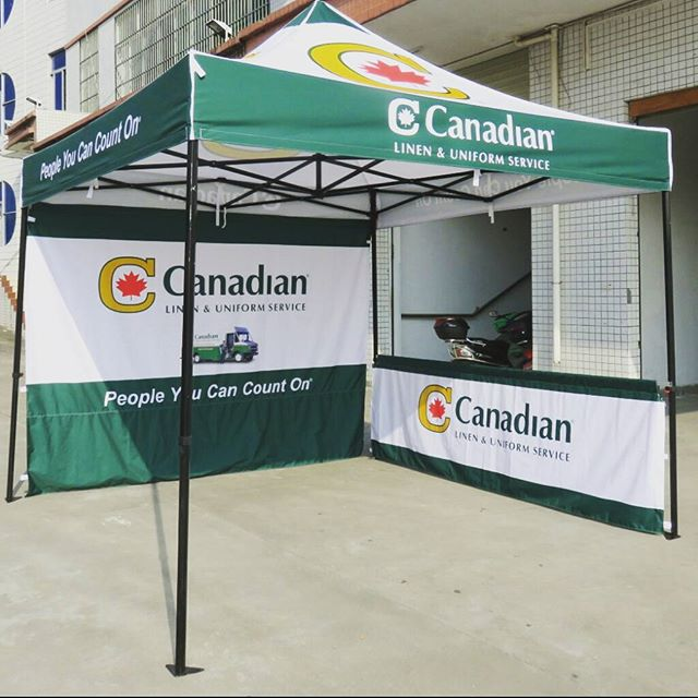 Printed tent with backwall and side walls & Custom Printed Pop up Canopy Tents - Free Shipping