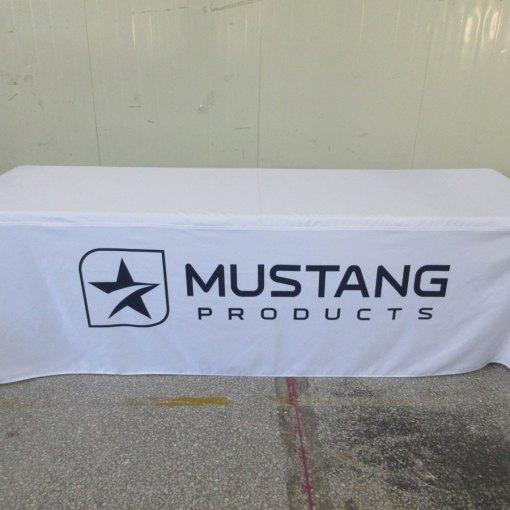 Printed logo tablecloth