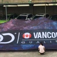 20 x 40 foot Fabric Stage Backdrop Vancouver