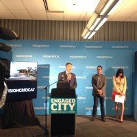 Media Wall Backdrop for Vancouver Mayor Press Conference