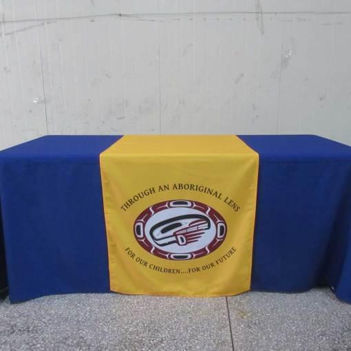 logo table runner