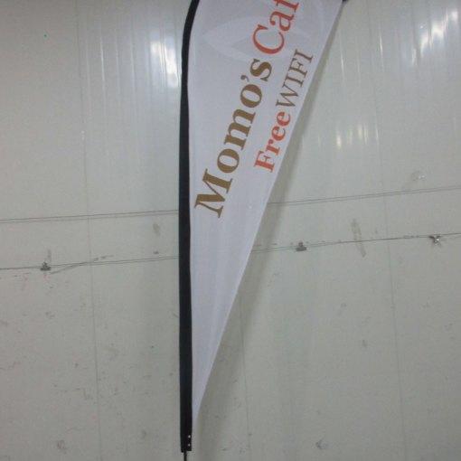Printed teardrop flag