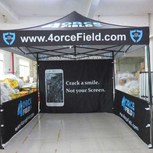 Printed pop up canopy with walls
