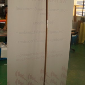Bamboo Banner stand view from behind