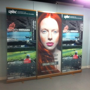 Bamboo Banner Stand printing with canvas