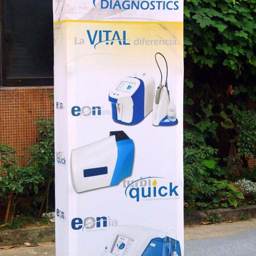 Pop up Banner Stand with End Caps
