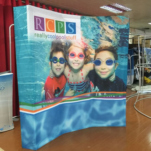 Event Curved Display Stand with Backdrop