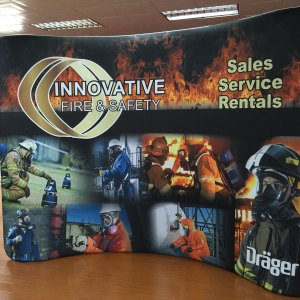 Tension Fabric Wave Display curved