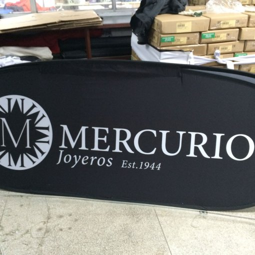 Oval Pop up banners