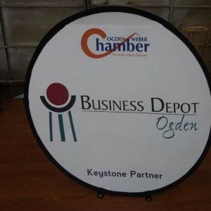 Circle Pop up Banners
