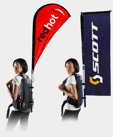 Backpack Advertising Flag printing