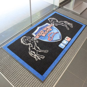 Printed Floor logo mats for business