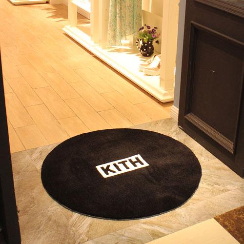 circle shaped printed floor mat
