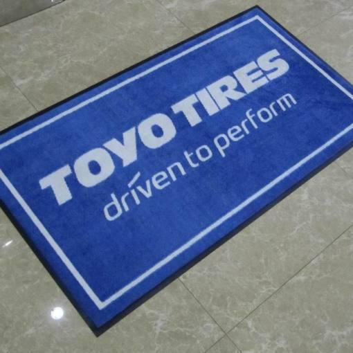 printed company logo floor mat
